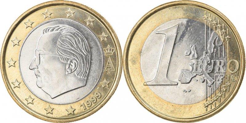 1 евро 1999 года, первый тип бельгийских монет евро