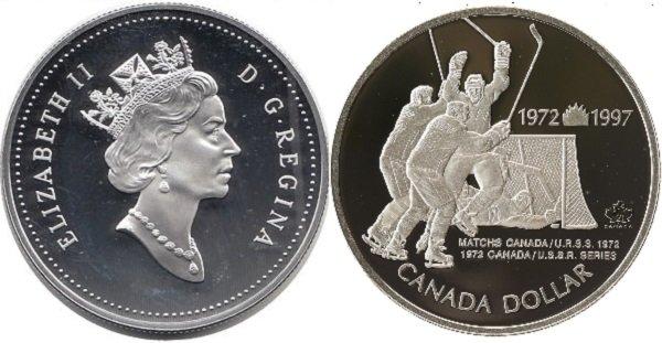 Серебряный канадский доллар