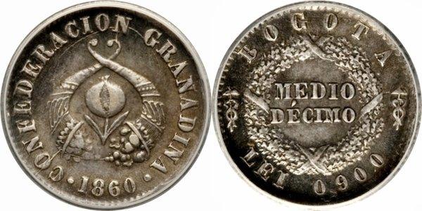 ½ десимо 1860 года