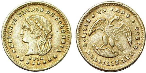 1 песо 1872 года