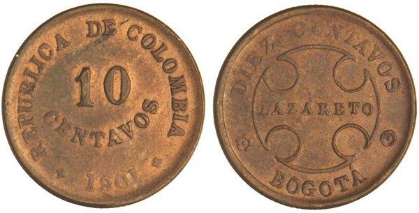 10 сентаво 1901 года (лепросарио)