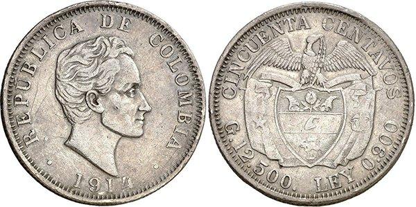 50 сентаво 1914 года