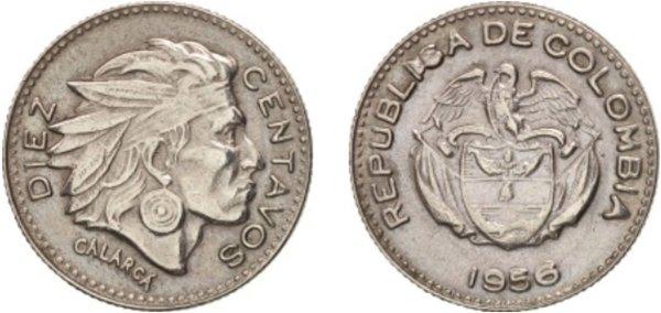 10 сентаво 1956 года