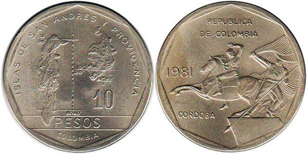 10 песо 1981 года