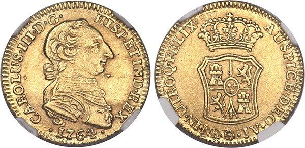 2 эскудо 1764 года