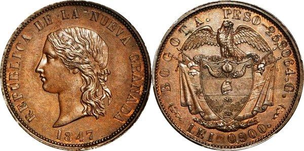 16 песо 1847 года