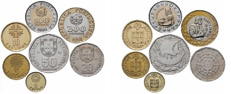 Монеты португальского эскудо 1988-2001 гг