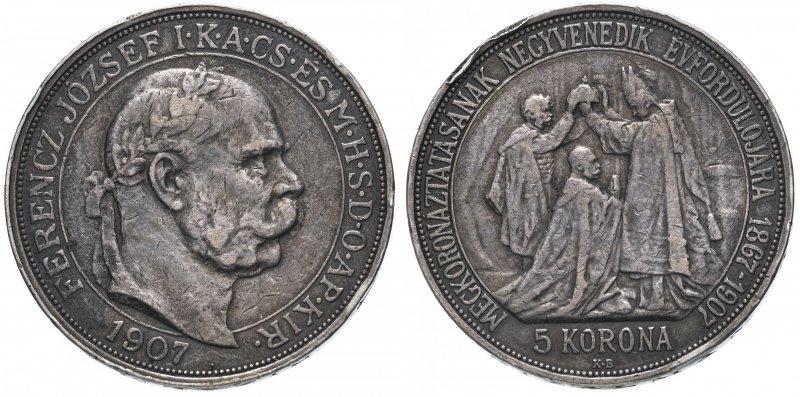 5 крон «40 лет со дня коронации Франца Иосифа I» (1907)