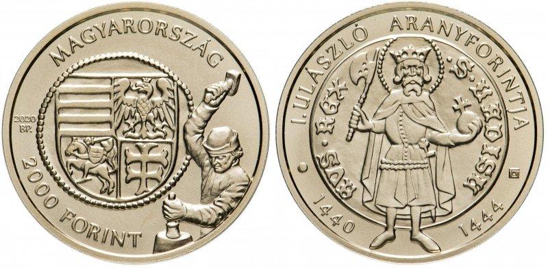 2000 форинтов  «Золотой флорин короля Владислава I» (2020)