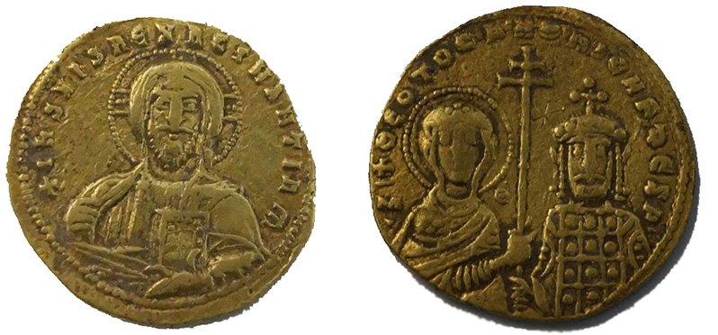Золотая монета византийского императора Никифора II Фоки (963-969). Краснодарский край, находка 2019 года