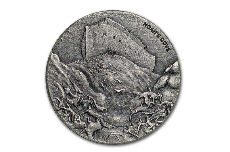 о.Ниуэ 2 доллара 2018 года «Голубь Ноя»