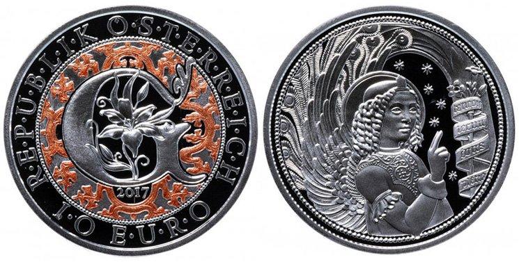 Австрия 10 евро 2017 года «Архангел Гавриил»
