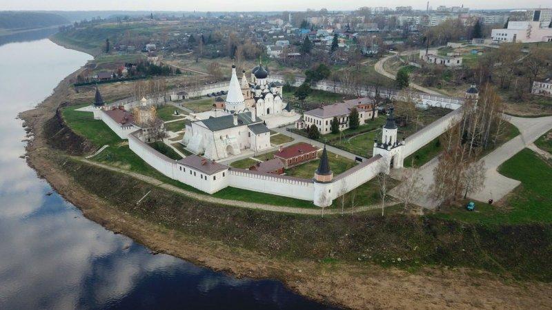 Панорамный вид на город Зубцов