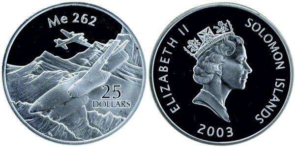 25 долларов, 2003 год, Соломоновы острова. Me.262