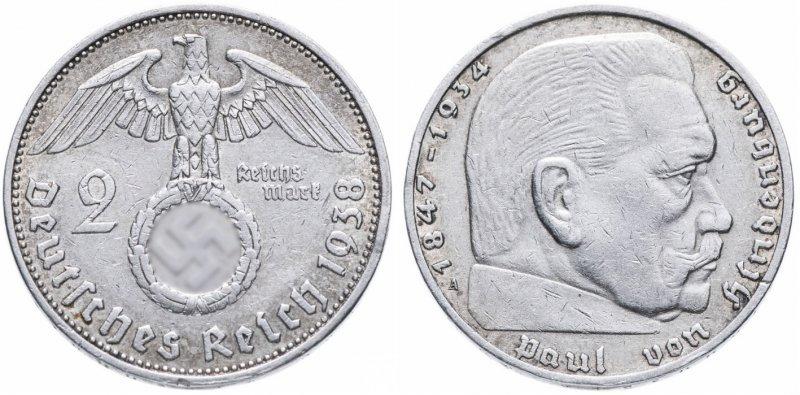 Гинденбург (2 рейхсмарки) 1938 год