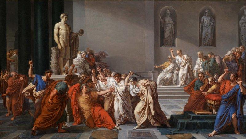 """Винченцо Камуччини """"Смерть Цезаря"""" (1798 г.)"""