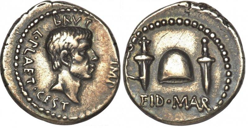 Денарий Брута (43-42 годы до н.э.)