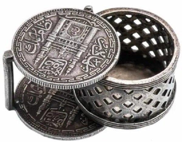Резная монетница в исламском стиле. Серебро. Начало ХХ века