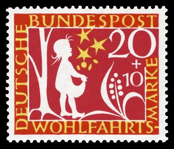 Почтовая марка по мотивам сказки «Звездные талеры». ФРГ. 1959 год