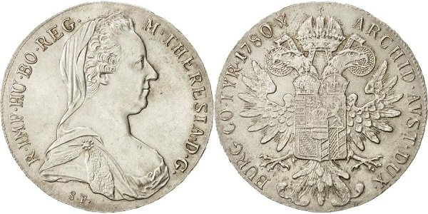 Талер Марии Терезии. 1780 год
