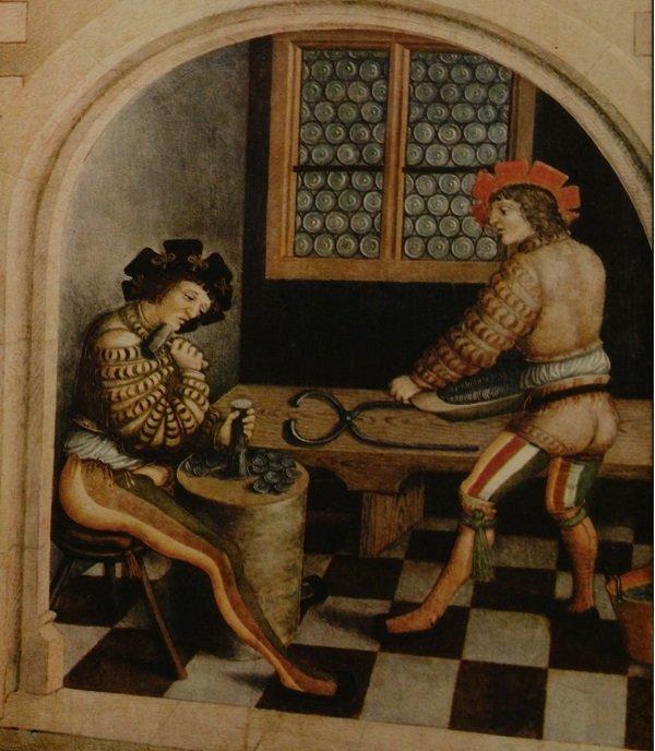 Чеканка талеров. Фрагмент алтаря церкви. 1522 год