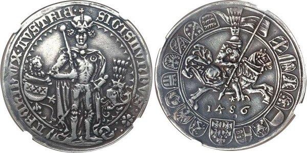 Гульдинер эрцгерцога Сигизмунда. Тироль. 1486 год