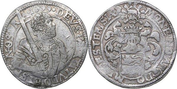 Дальдер (риксдальдер). Нидерланды. Провинция Западная Фризия. 1599 год. Серебро. 28,7 г