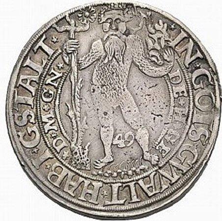 Дикарь, персонаж германских легенд на талере  курфюрста Брауншвайг-Вольфенбюттеля. 1549 год