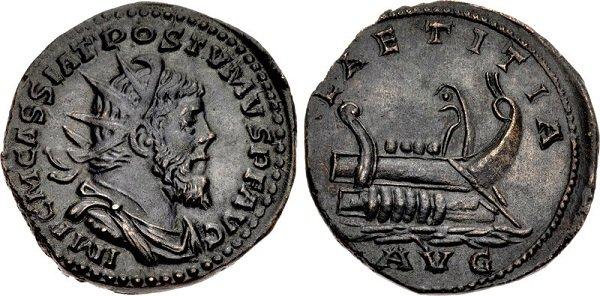 Двойной сестерций галло-римского императора Постума. Провинция Галлия. 260-269 гг.