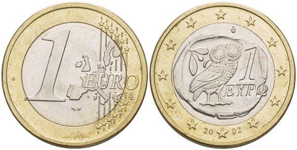 1 евро. 2002 год