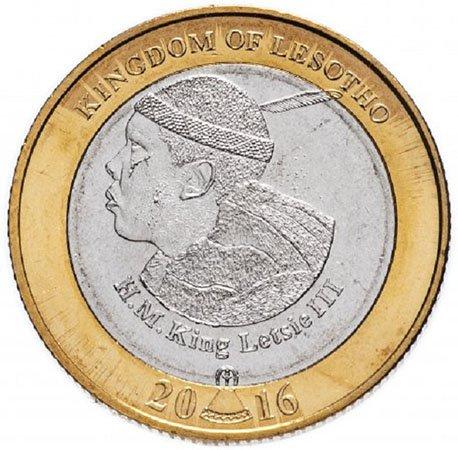 5 малоти. 50-летие независимости Лесото. 2016 год