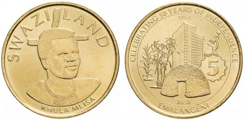 5 эмалангени. 50-лет независимости Свазиленда. 2018 год