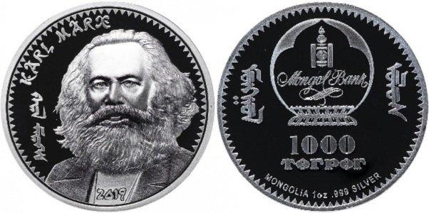 1000 тугриков 2019 года «Карл Маркс»