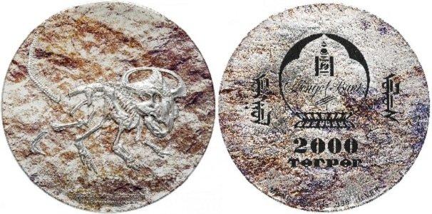 2000 тугриков, посвященные  Протоцератопсу
