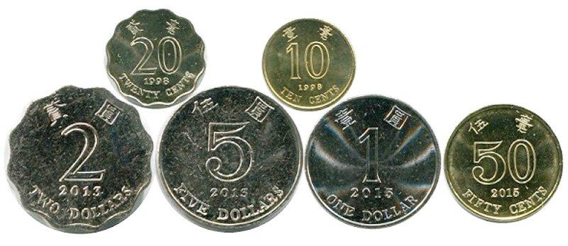 Современные монеты Гонконга. Реверс