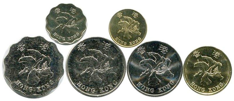 Современные монеты Гонконга. Аверс