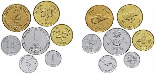 Набор монет для регулярного обращения. Мальдивы. 2007-2012 гг.