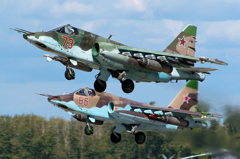 Советский и российский штурмовик «Су-25»