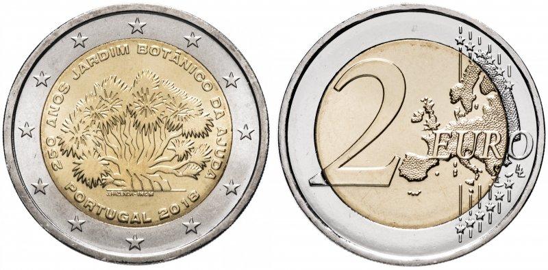 Португалия, 2 евро 2018 года «250 лет Ботаническому саду в Ажуде»