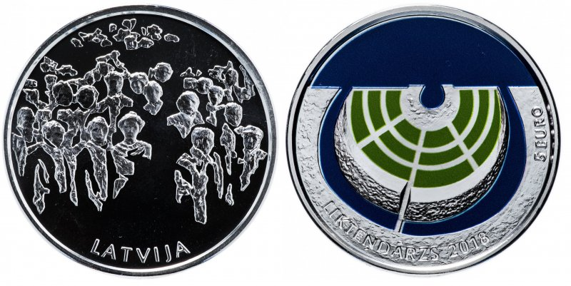 Латвия, 5 евро 2018 года «Сад Судьбы»