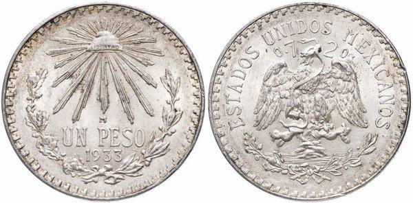 Мексиканское песо 1933 г.