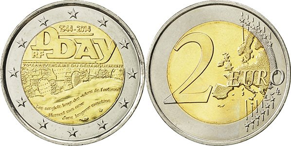 2 евро Франции 2014 г.