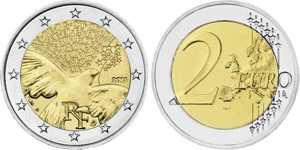 2 евро Франции 2015 г.