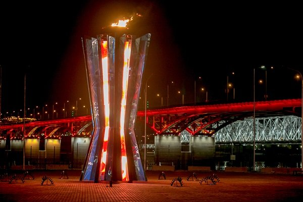 Огонь зимней Универсиады в Красноярске