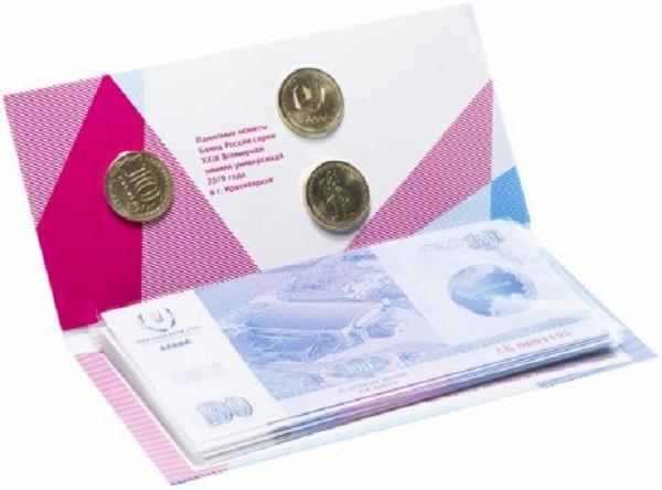 Сувенирный набор из монет и «банкнот»