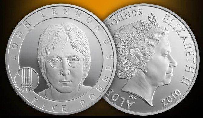 Джон Леннон, номинал 5 фунтов, 2010 год