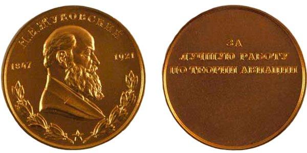 Золотая медаль имени профессора Н.Е. Жуковского, 1947 год