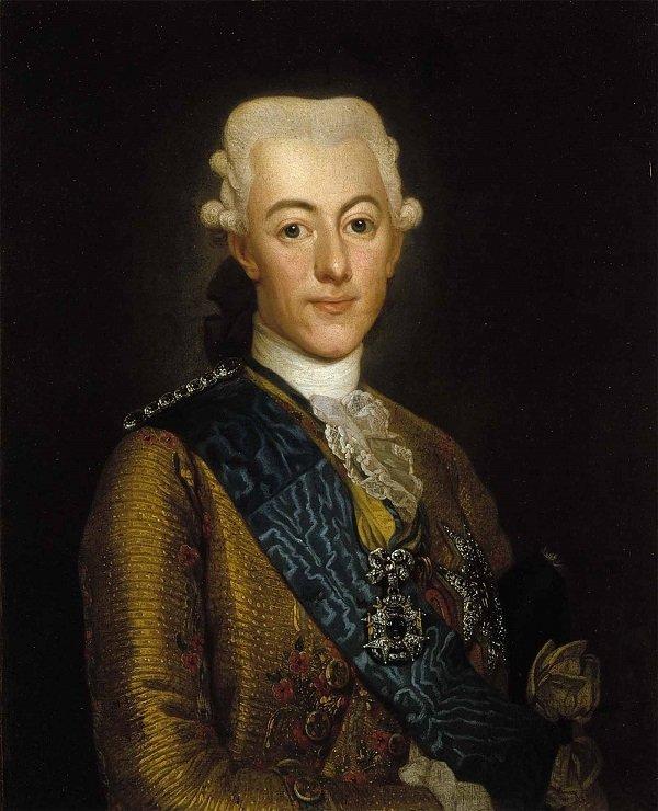 Шведский король Густав III (1771-1792 гг.). Портрет А. Рослина. 1775 год