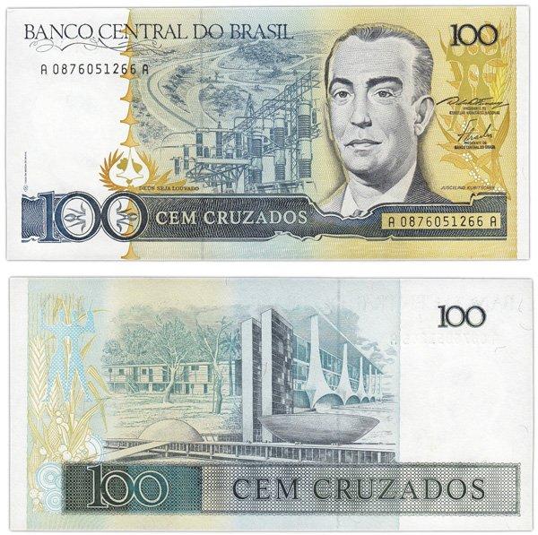 100 крузадо, Бразилия, 1986 год