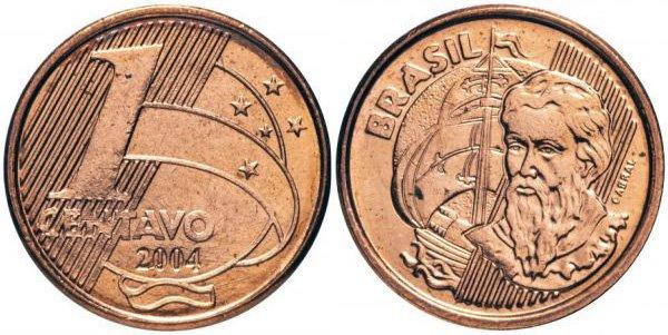 1 сентаво, Бразилия, 2004 год